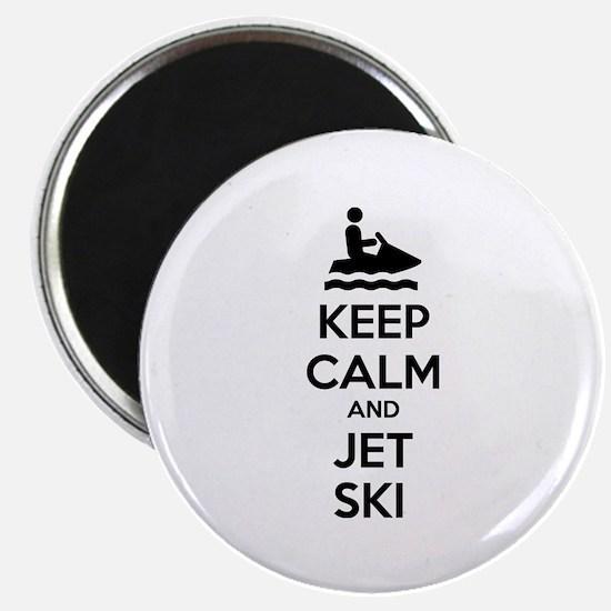"Keep calm and jet ski 2.25"" Magnet (10 pack)"