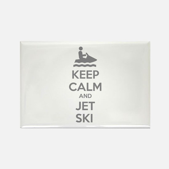 Keep calm and jet ski Rectangle Magnet