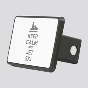 Keep calm and jet ski Rectangular Hitch Cover