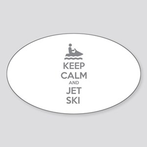 Keep calm and jet ski Sticker (Oval)