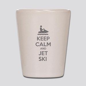 Keep calm and jet ski Shot Glass