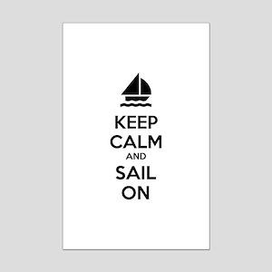 Keep calm and sail on Mini Poster Print