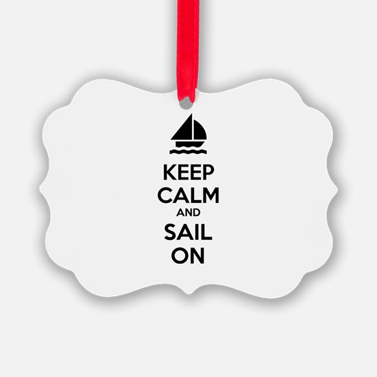 Keep calm and sail on Ornament