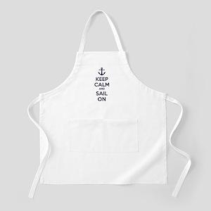 Keep calm and sail on Apron