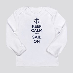 Keep calm and sail on Long Sleeve Infant T-Shirt