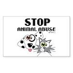 stop-animal-abuse-01 Sticker (Rectangle 50 pk)