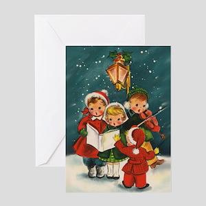 Vintage christmas greeting cards cafepress vintage christmas children greeting card m4hsunfo