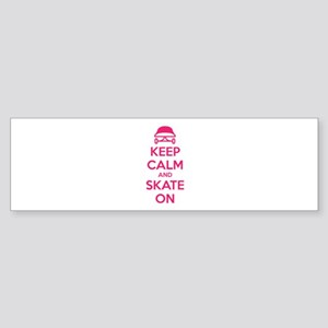 Keep calm and skate on Sticker (Bumper)