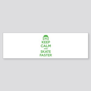 Keep calm and skate faster Sticker (Bumper)