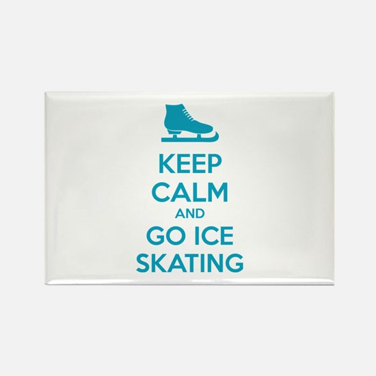 Keep calm and go ice skating Rectangle Magnet