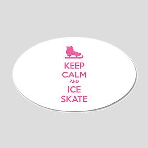 Keep calm and ice skate 22x14 Oval Wall Peel