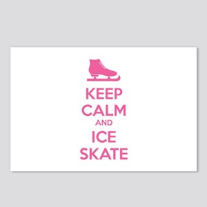 Keep calm and ice skate Postcards (Package of 8)