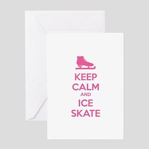 Keep calm and ice skate Greeting Card