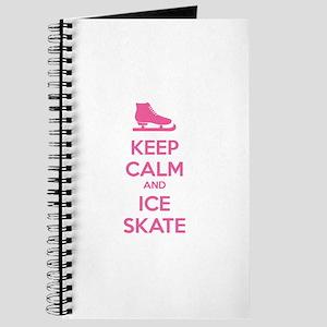 Keep calm and ice skate Journal