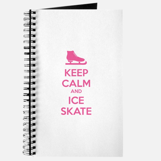 Keep calm and ice skate Journal