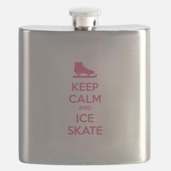 Keep calm and ice skate Flask