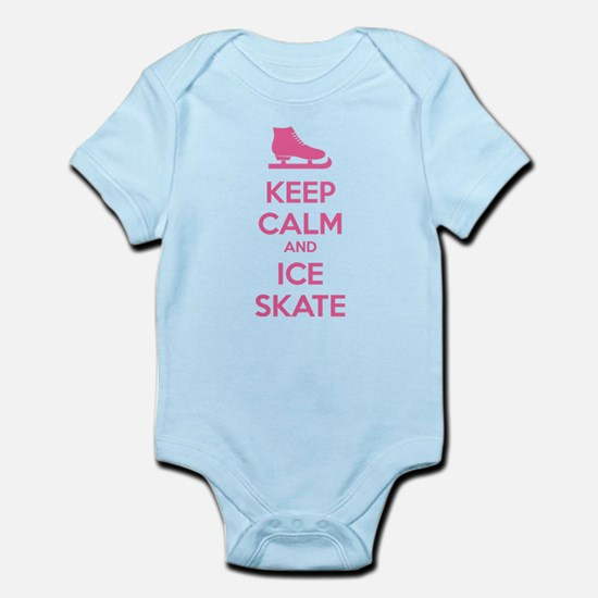 Keep calm and ice skate Infant Bodysuit