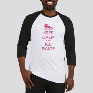 Keep calm and ice skate Baseball Jersey