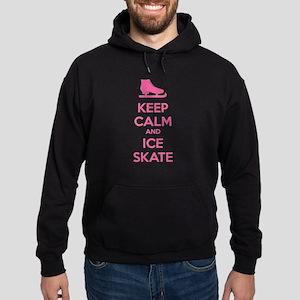 Keep calm and ice skate Hoodie (dark)