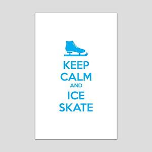 Keep calm and ice skate Mini Poster Print