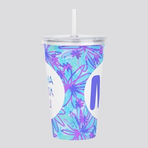Sigma Delta Tau Floral Acrylic Double-Wall Tumbler