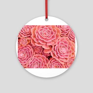 Pink Multiple Succulent Ornament (Round)