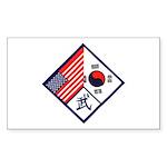 Dual Flag & Moo Sticker (Rectangle 10 pk)