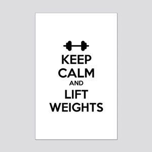 Keep calm and lift weights Mini Poster Print