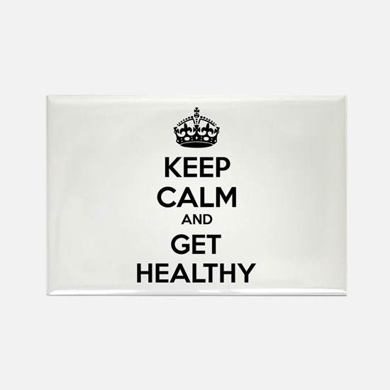 Keep calm and get healthy Rectangle Magnet
