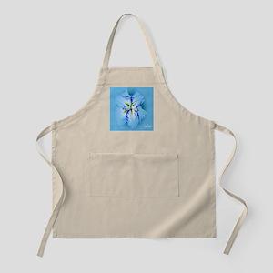 Iris in Blue Mist Apron