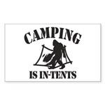 Camping Is In Tents Sticker (Rectangle 50 pk)