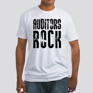 Auditors Rock Fitted T-Shirt