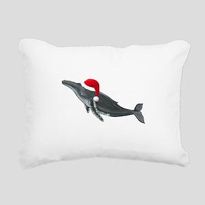 Santa - Whale Rectangular Canvas Pillow