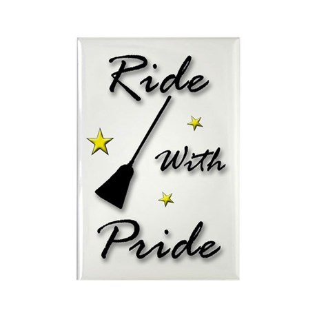 Rectangle Ride With Pride Magnet (10 pack)