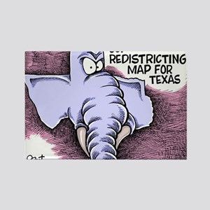 GOP Redistricting Map for Texas Rectangle Magnet
