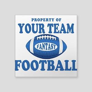Property of Fantasy Your Team Blue Square Sticker