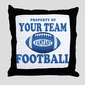 Property of Fantasy Your Team Blue Throw Pillow