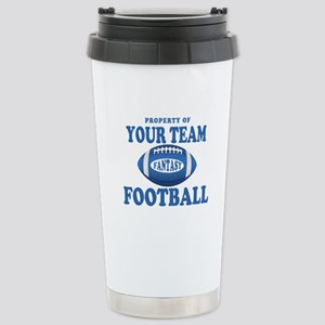 Property of Fantasy Your Team Blue Stainless Steel