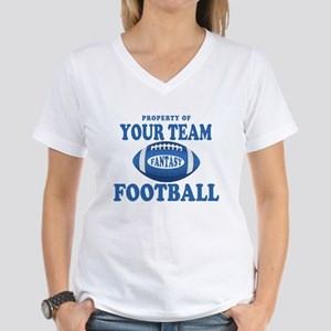 Property of Fantasy Your Team Blue Women's V-Neck