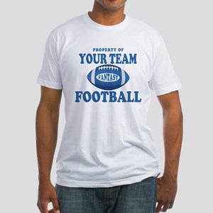 Property of Fantasy Your Team Blue Fitted T-Shirt