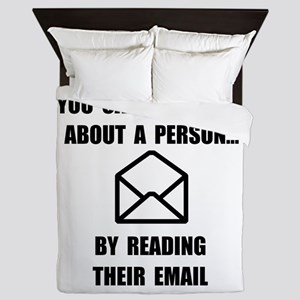 Read Their Email Queen Duvet