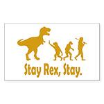 Stay Rex Stay Sticker (Rectangle 50 pk)