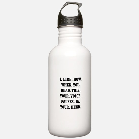 Voice Pause Water Bottle