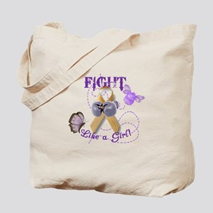 Fight Like A Girl (Butterfly/Bee) Tote Bag