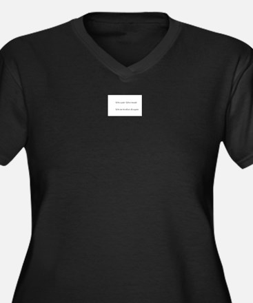 A product name Women's Plus Size V-Neck Dark T