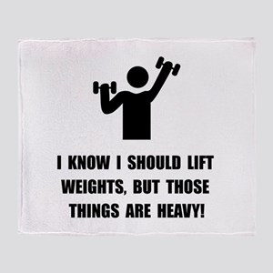 Weights Are Heavy Throw Blanket