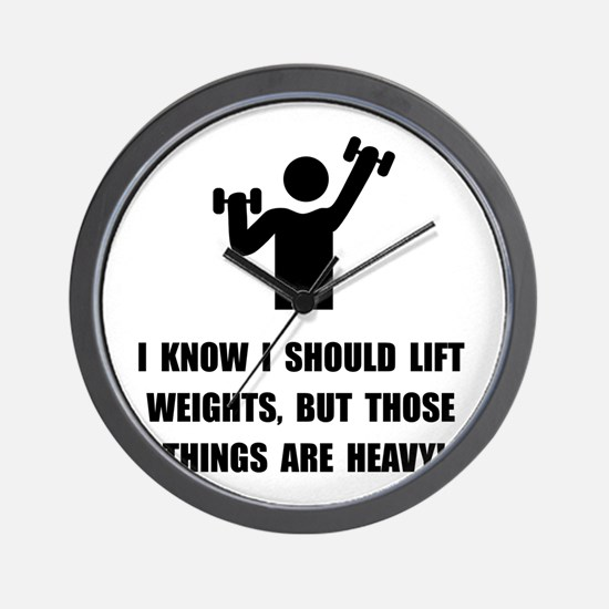 Weights Are Heavy Wall Clock