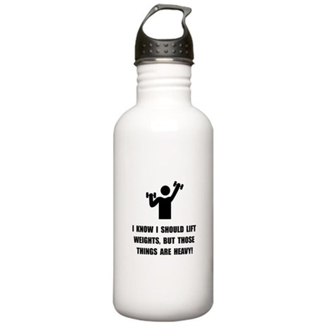 Weights Are Heavy Stainless Water Bottle 1.0L