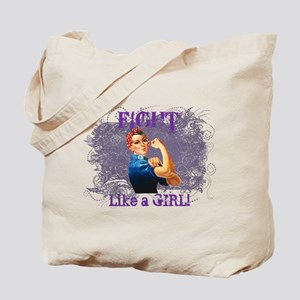 Fight Like a Girl (Rosie) Tote Bag