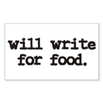 writeforfood3 Sticker (Rectangle 10 pk)